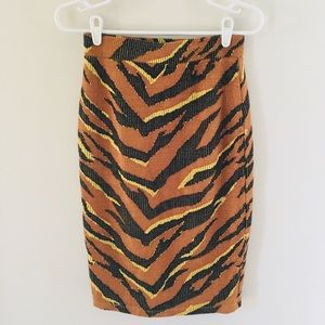 Free People tiger print skirt